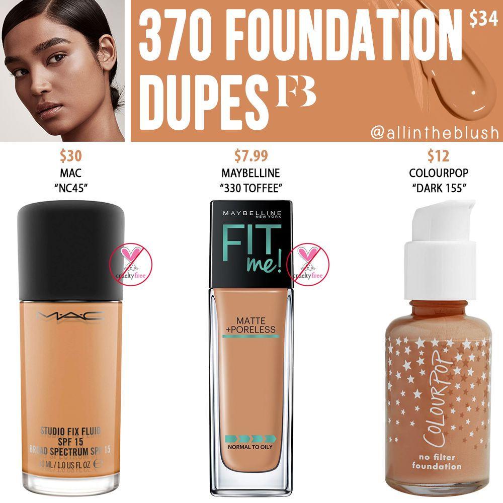 Fenty Beauty 370 Pro Filt R Soft Matte Longwear Foundation Dupes All In The Blush Foundation Dupes Longwear Foundation Lipstick Dupes