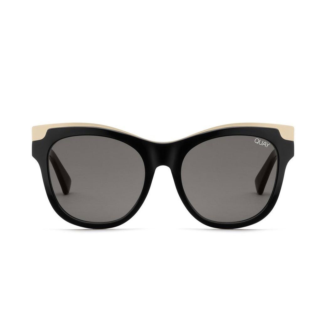 7941aaa950e05 Le Specs Swizzle Matte Black Sunglasses - front facing on white background