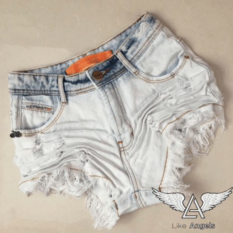 c1872d1be SHORTS JEANS HOT PANTS LIGHTS IN THE DARK Shorts Jeans Sky Neon