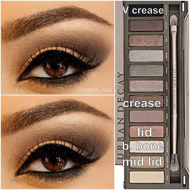 Steps For Smokey Brown Using The Urban Decay Naked Palette -7683