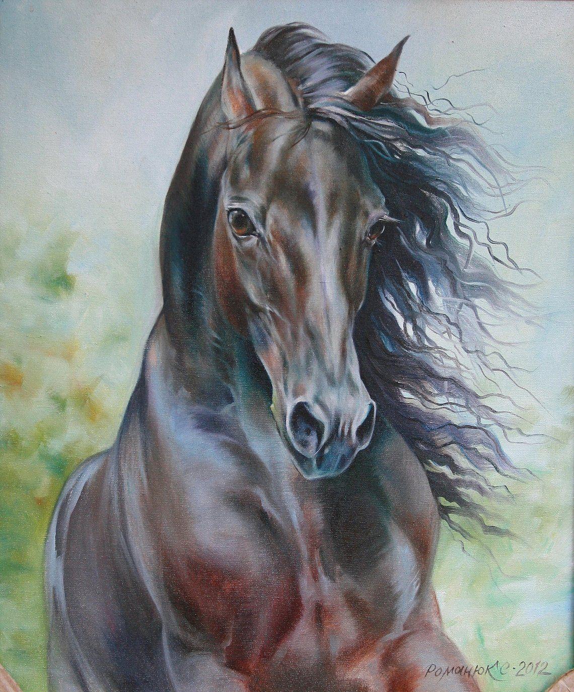 постер с лошадью среднерослое
