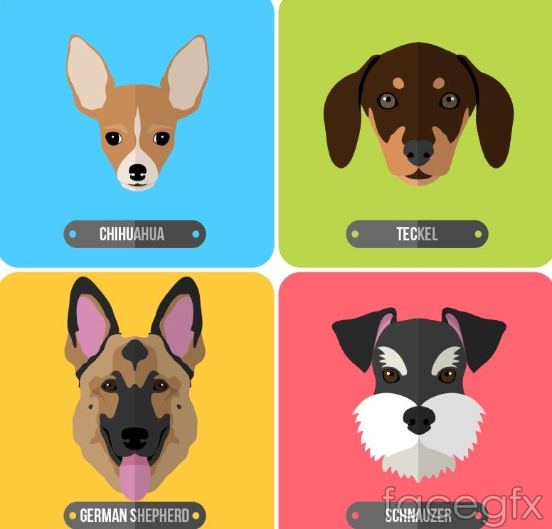 4 cartoon dog head vector free vectors pinterest 4 cartoon dog head vector toneelgroepblik Images