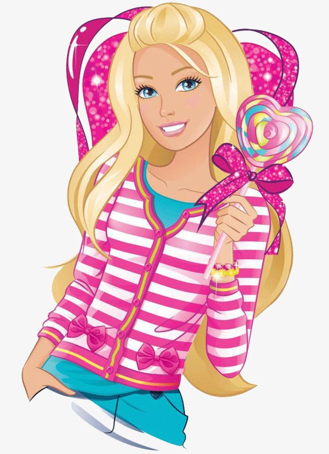 Barbie Doll Expensive Lollipop Heart Shaped Png Image