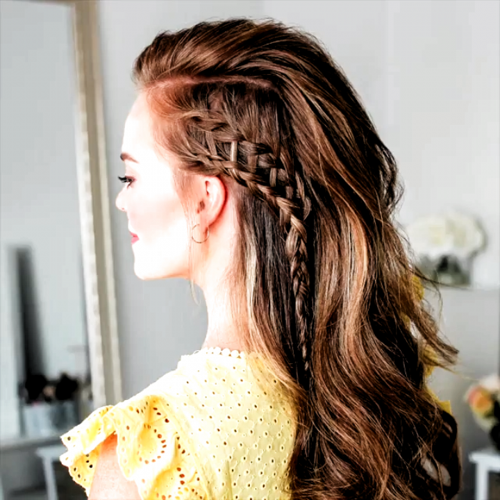 Hair Tutorial Video Braided Hairstyle Video Braidstyles Hairtutorial Hairvideos Braidedhair In 2020 Long Hair Styles Side Braid Hairstyles Hair Videos Tutorials