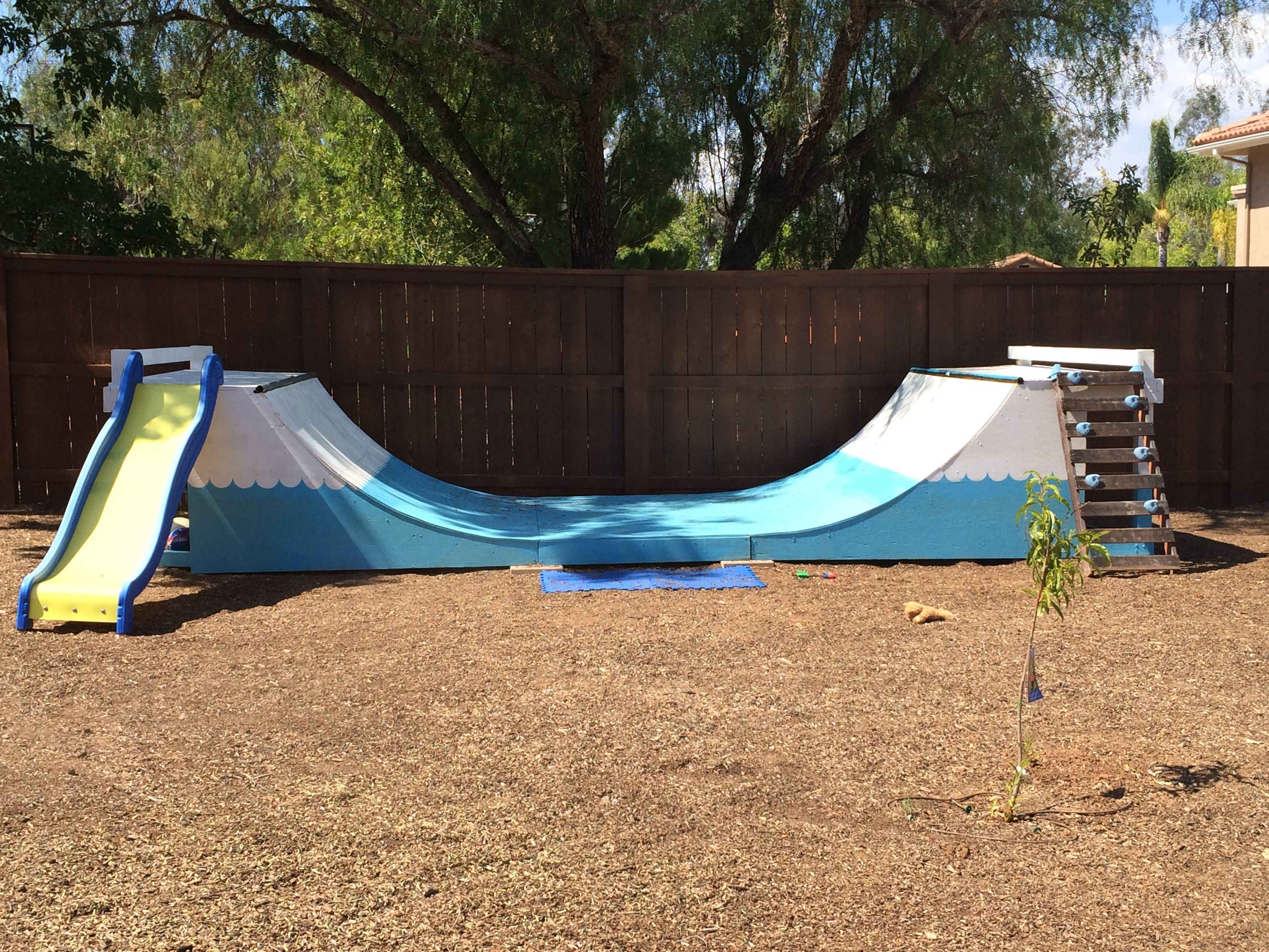 Backyard with half pipe The perfect t for children A little