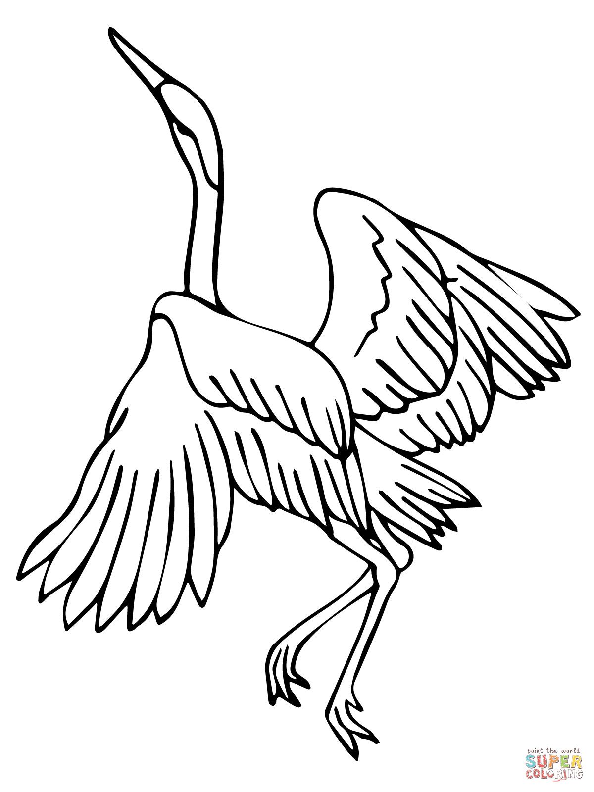 Heron Dance Coloring page SuperColoring
