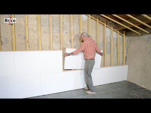 Poser des panneaux isolants avec finition décorative - Tuto brico de
