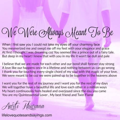 We Were Always Meant To Be Love Quotes Soulmate Love Quotes