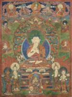 Thangka depicting Visvabhu China/Tibet, 18th-19th Century (?)