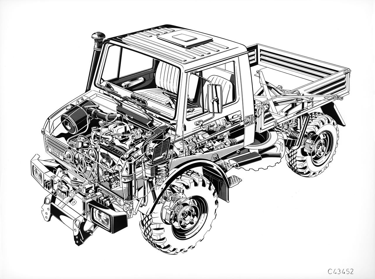 unimog 3d drawing