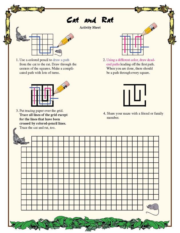 Cat and Rat – Fun Geometry Worksheet for Third Grade – Math Blaster ...