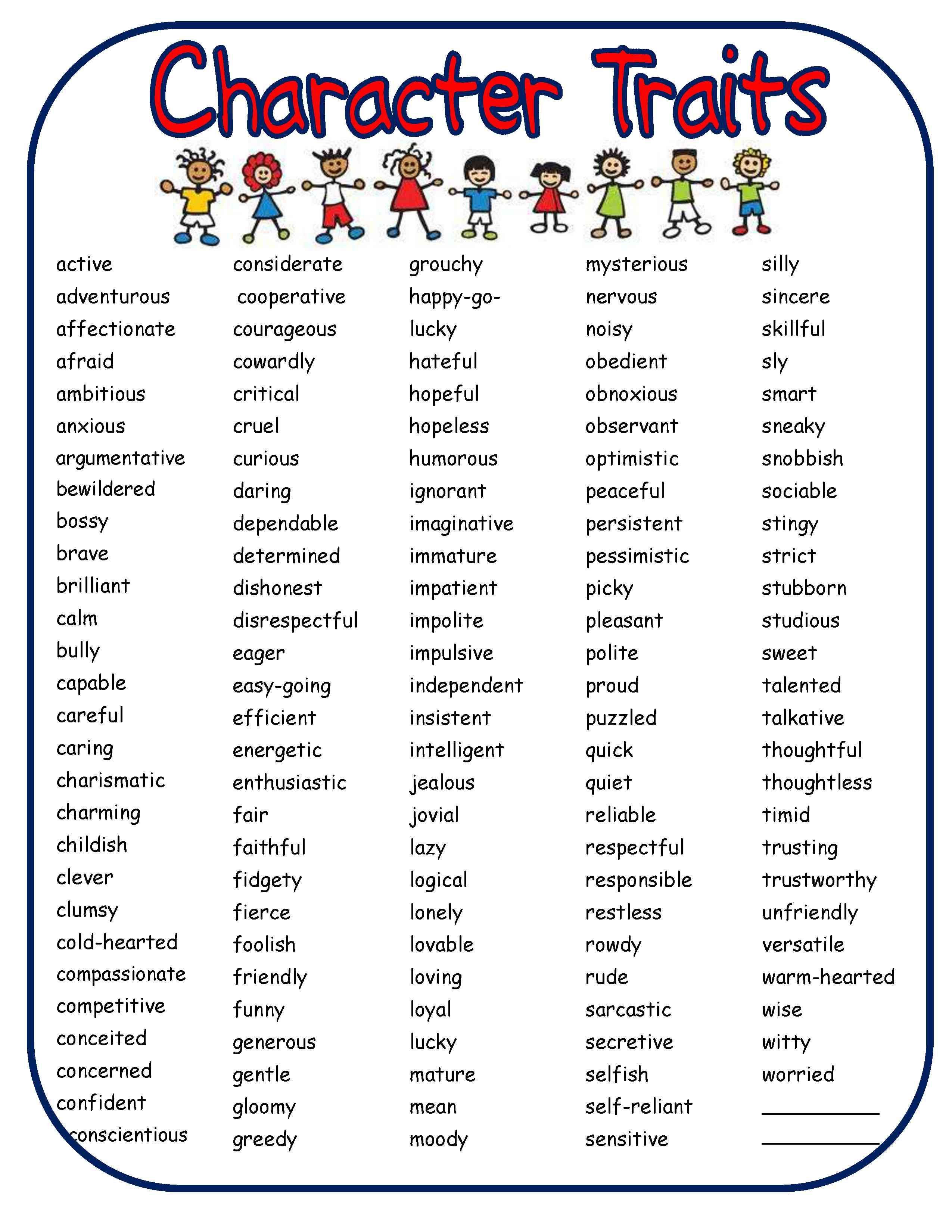 Bad Set Up Synonym Best 25 43 List Of Character Traits Ideas On Pinterest