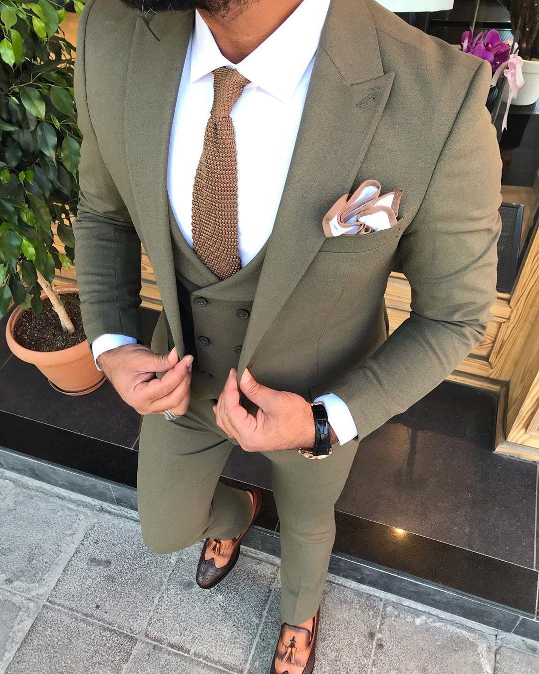 Austin Khaki Slim-Fit Suit