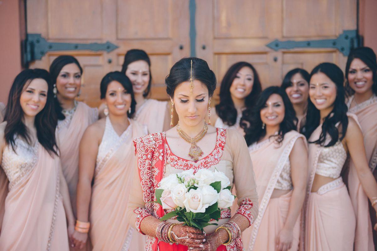 Love this pose.  Real Wedding - Nitika & Shaan Get Traditional at Casa Real   Blushing Blog