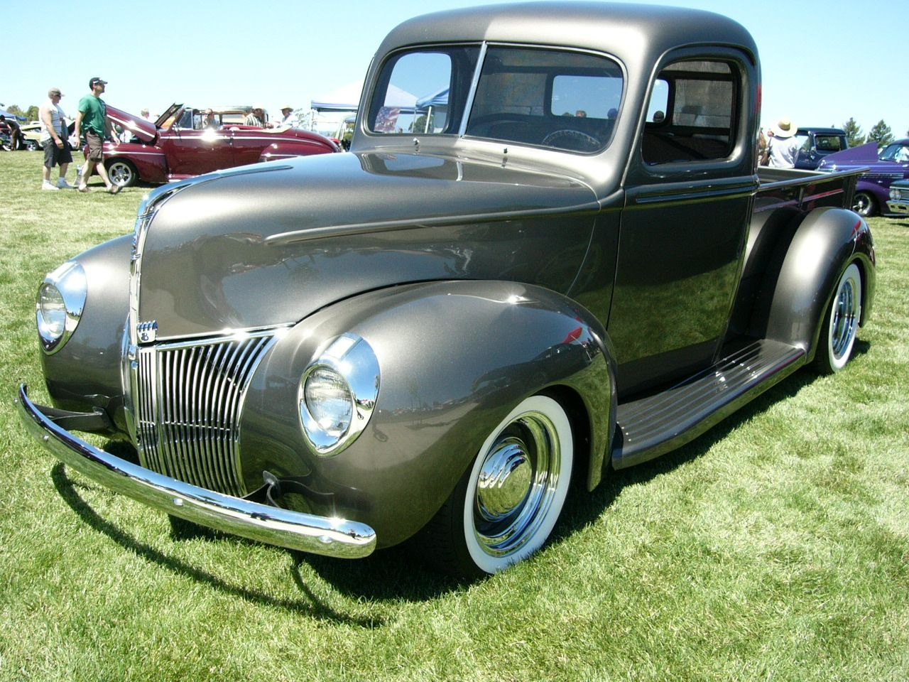 Ford Pickup 1940 Ford V8 Pickup In Gray By Roadtripdog On