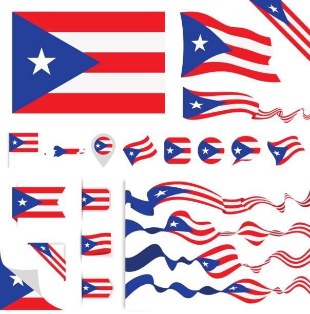 Vector Illustration Vector Art Illustration Puerto Rico Flag