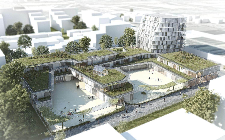 1° Lugar   Projeto De Escola Primária E Residência Estudantil / Chartier  Dalix Architectes