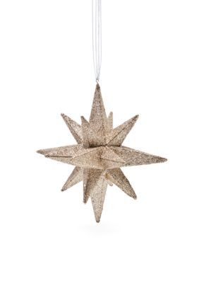 Biltmore Sparkle And Shine Gold Glitter 3d Star Ornament In 2020