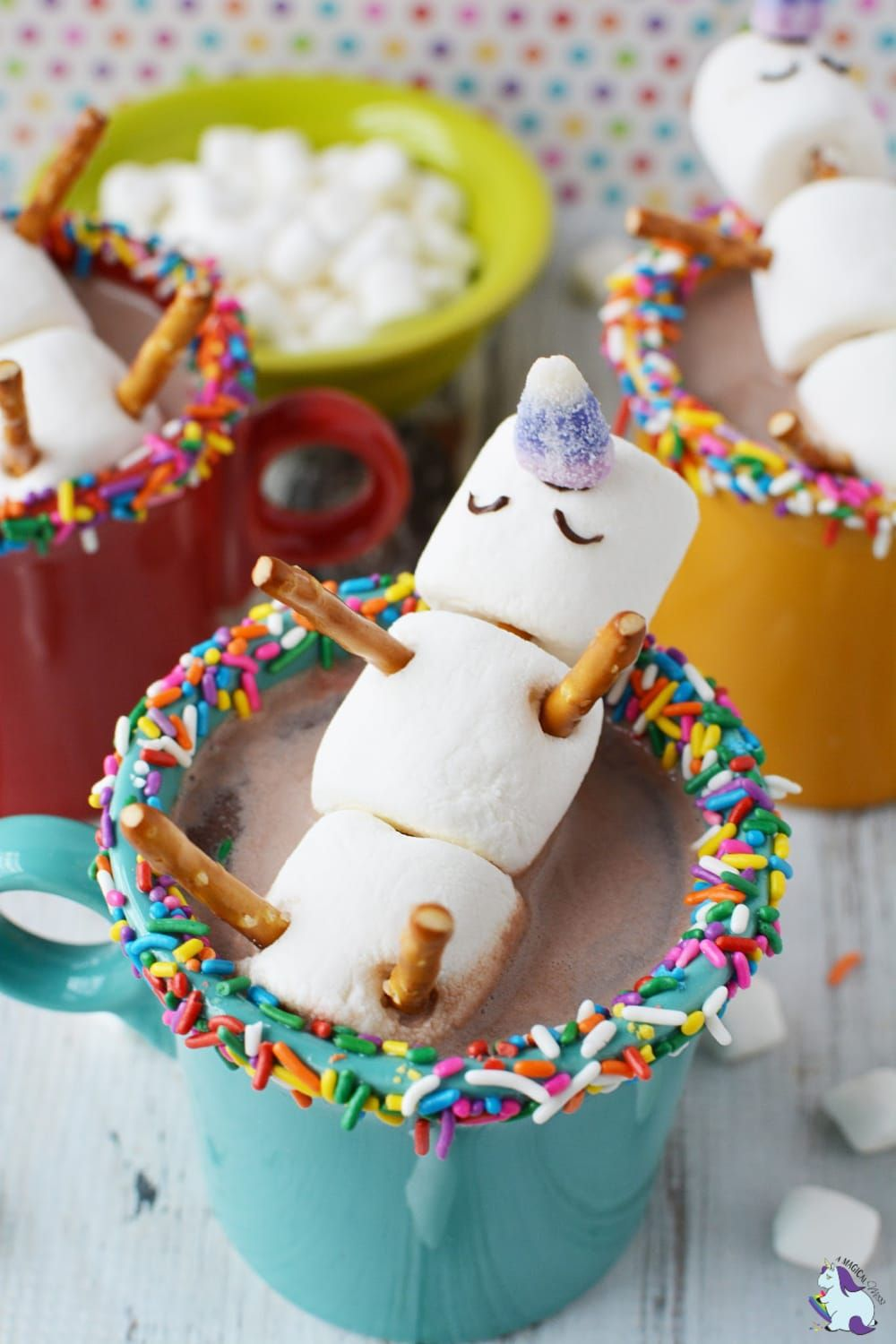 Melting unicorn hot chocolate
