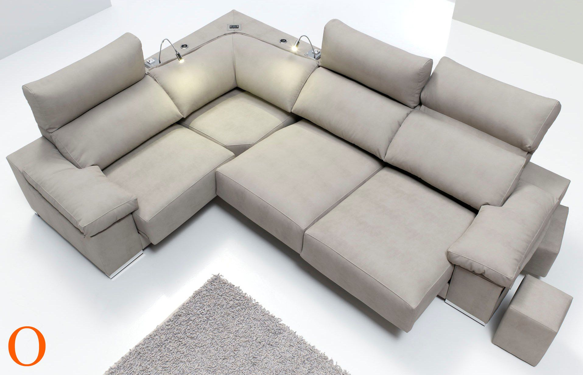 Rinconera de 2 60 x 2 20 Respaldos reclinables 2 asientos