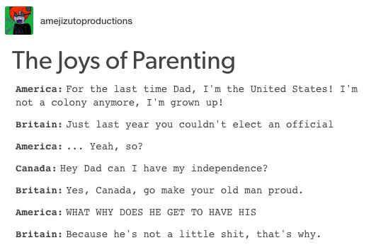 14 Hilarious Tumblr Conversations Between America And Canada