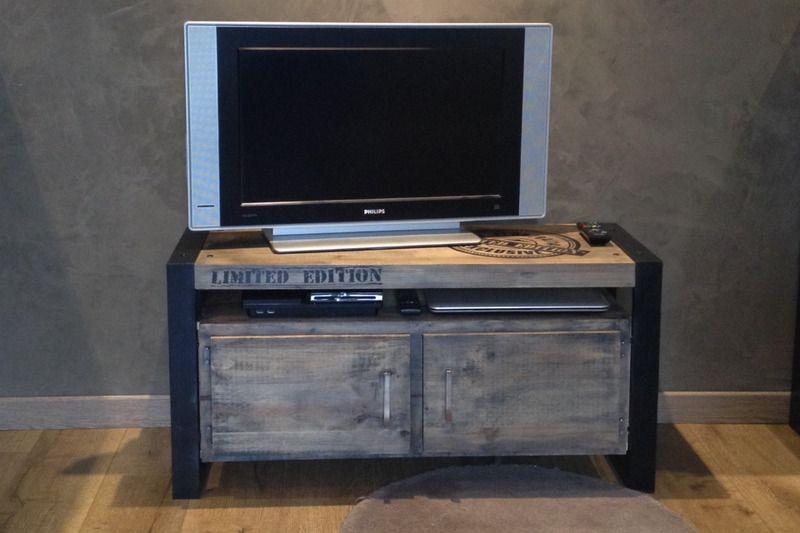 Meuble Tv Industriel Tables Ed Concept Fait Maison Deco Flatscreen Tv Electronic Products
