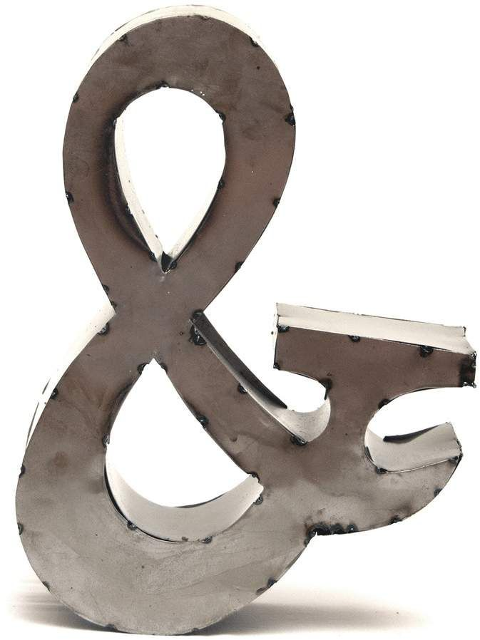 Rustic Arrow 14-Inch Ampersand Wall Decor | Hanging wall ...
