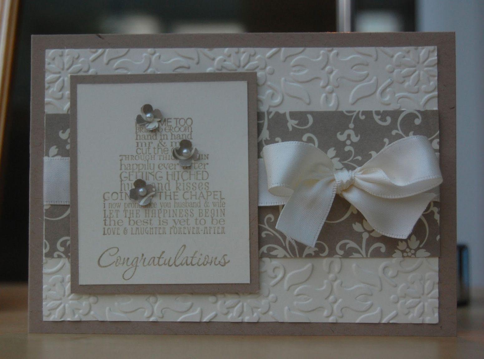 Wedding Day Congrats Stampin Up Wedding Design Idea Wedding