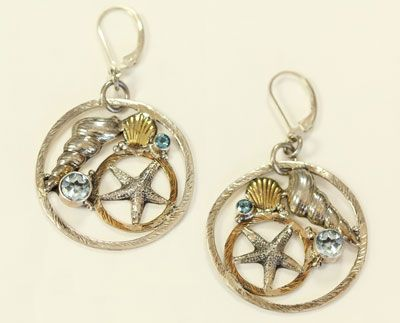 mars valentine nautical hoop earrings - Mars And Valentine
