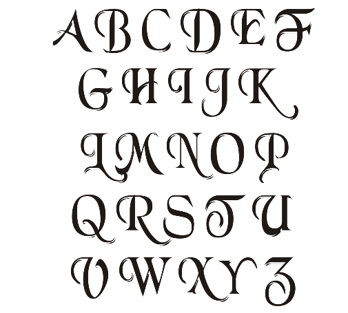 Different ways of writing alphabets