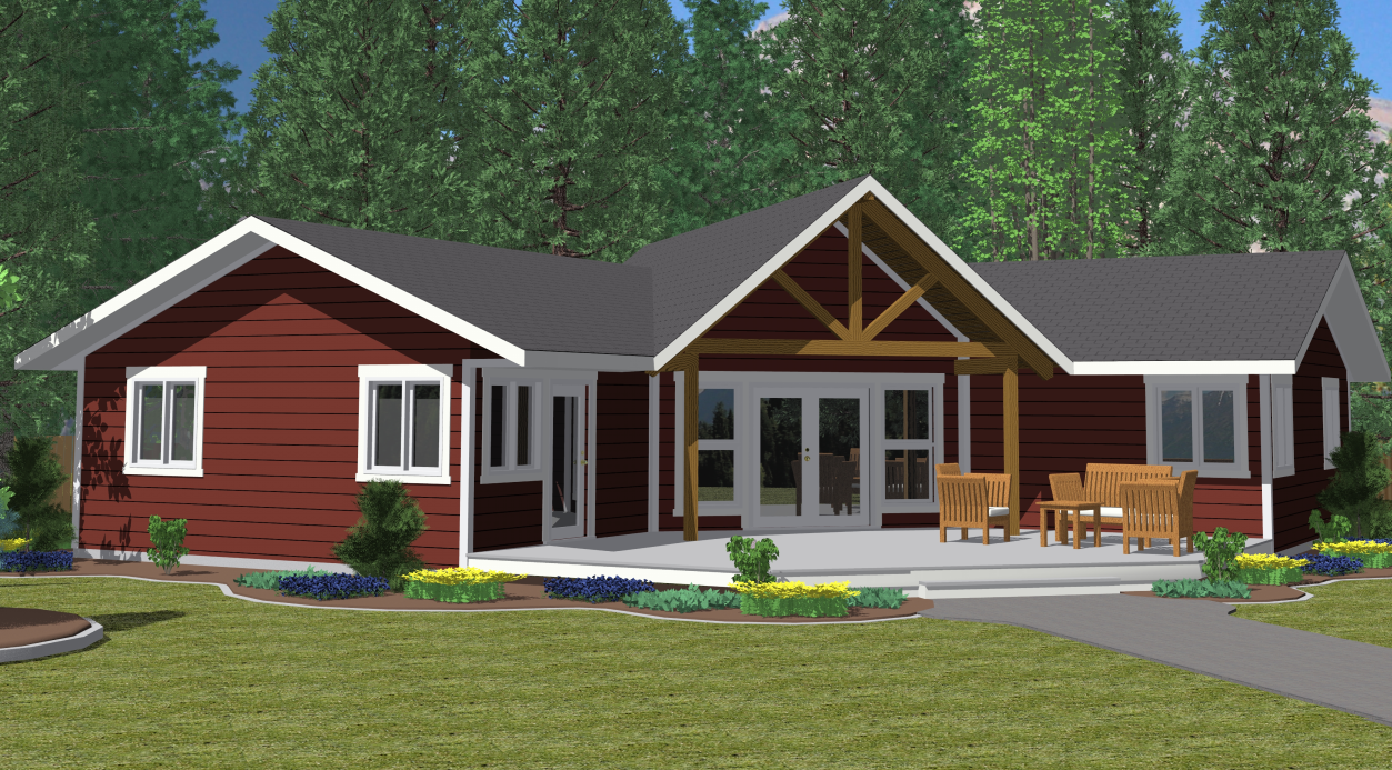 1600 square feet 68 love 42 wide could still remove for Prefab lake homes