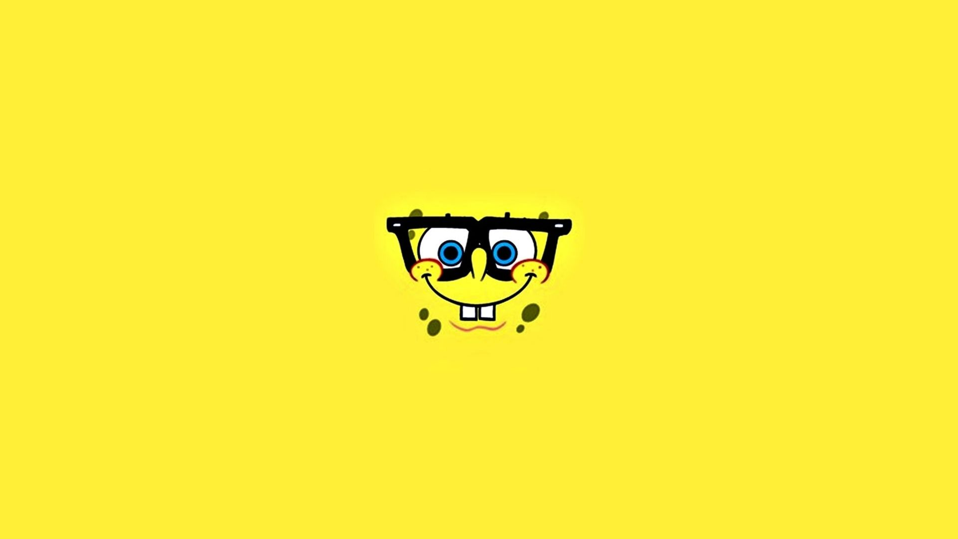 Spongebob Face With Glasses Minimalist Wallpaper Funny Pinterest