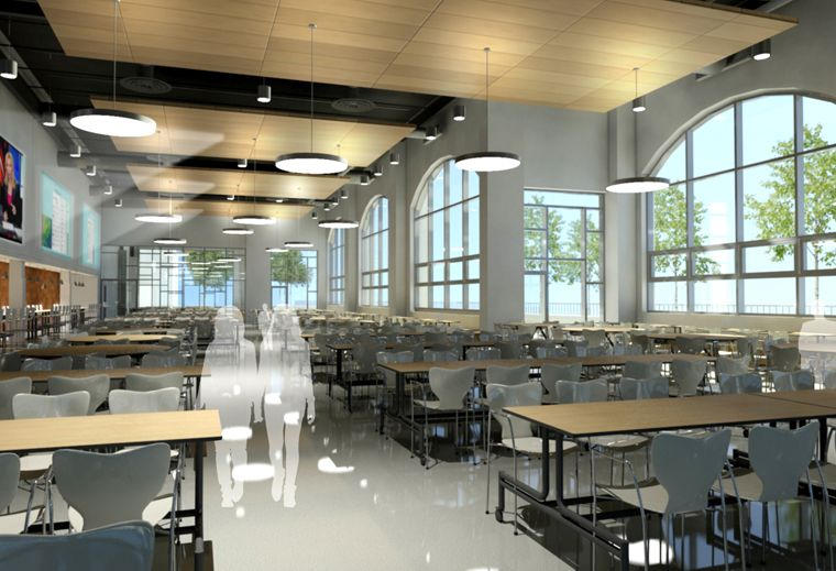 Dover High School Cafeteria School Spaces Cafeteria