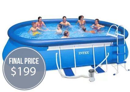Intex Pool Set 150 Off At Walmart Intex Pool Intex Easy Set Pools