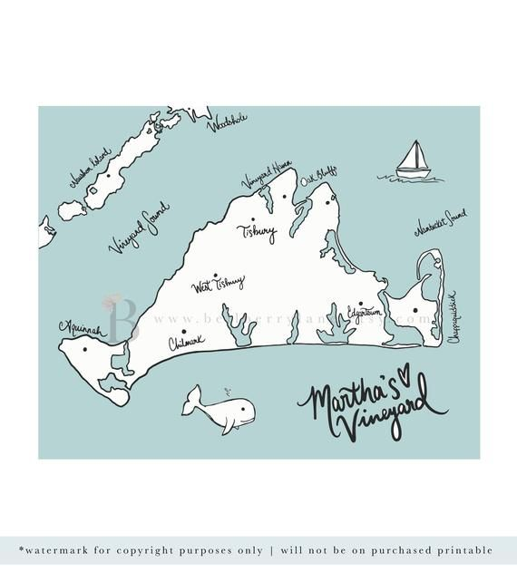 photograph regarding Printable Map of Cape Cod titled Marthas Winery Map, Printable Map Artwork, Cape Cod map print