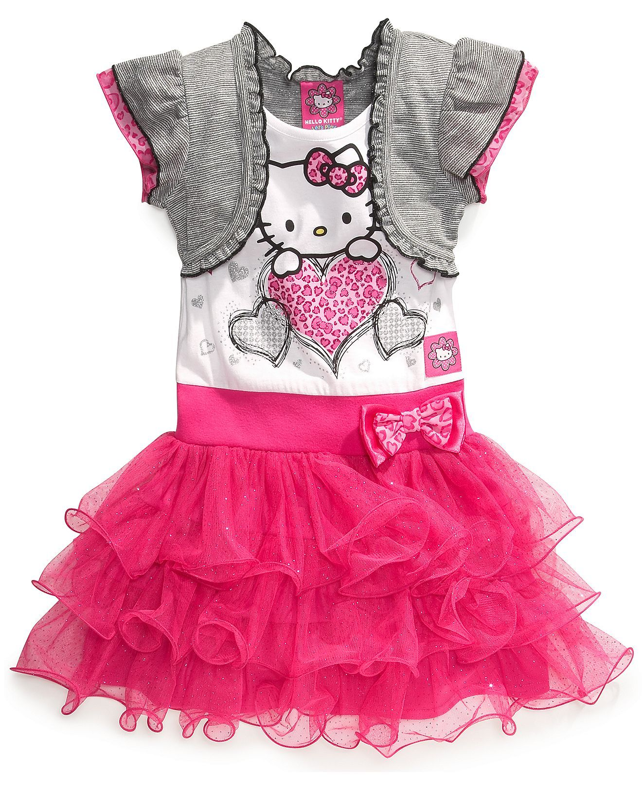 6c5bf9fdf Hello Kitty Girls Dress, Little Girls Shrug Tutu Dress - Kids - Macy's