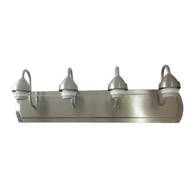 Portfolio Bathroom Vanity Light Vb256 4bnk 4 Light Brushed Nickel