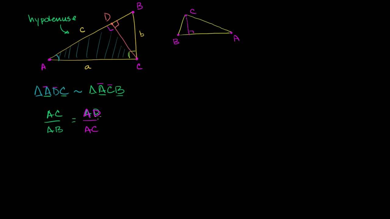 Pythagorean Theorem Proof Using Similarity Pythagorean Theorem Theorems Free Math Worksheets