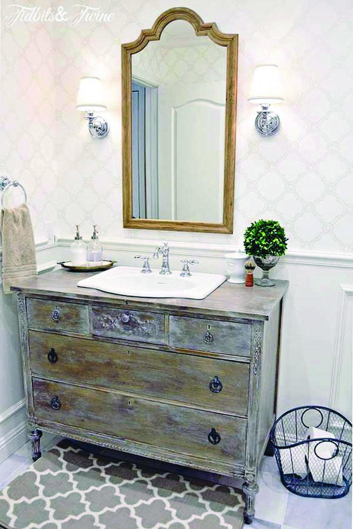 Rustic Bathroom Vanities Guest Bathroom Remodel Bathroom