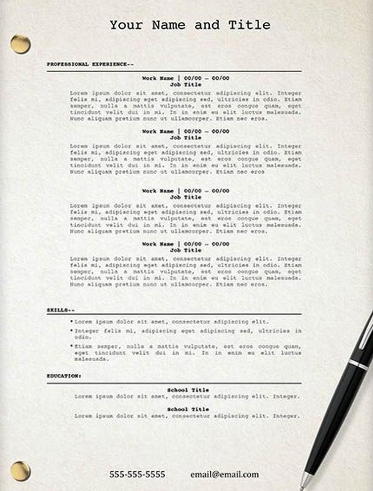 u0026quot movie script u0026quot  resume template
