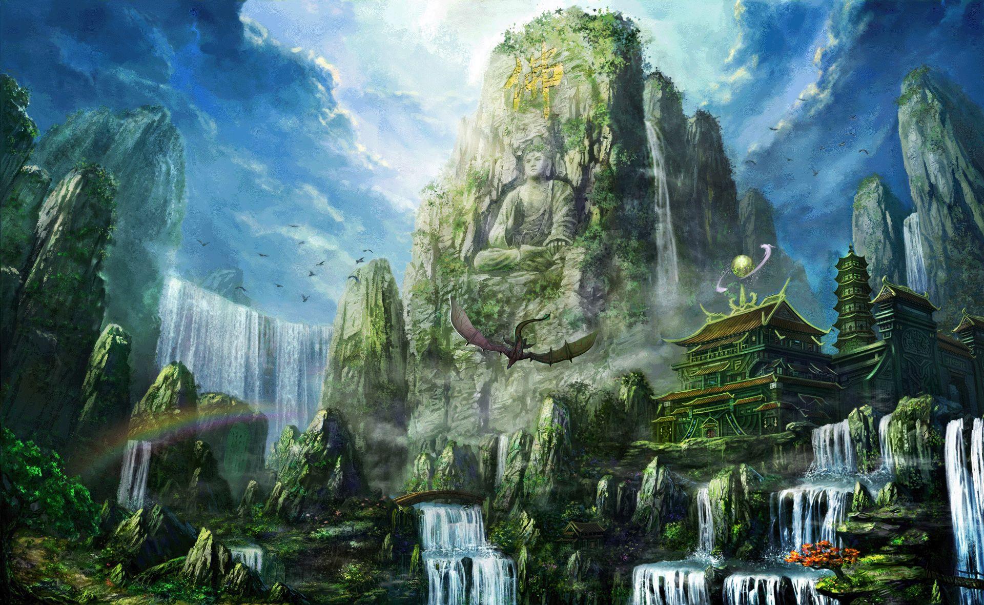 Fantasy Landscape Wallpaper Landschaften Pinterest Fantasy