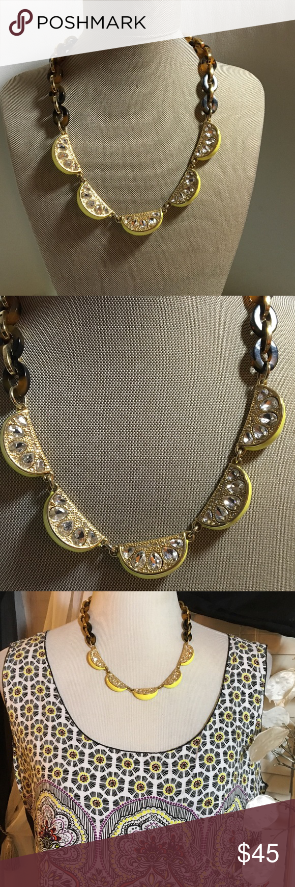 Ann Taylor necklace Stunning and elegant necklace in perfect condition , great quality, solid gold chain Ann Taylor Jewelry Necklaces