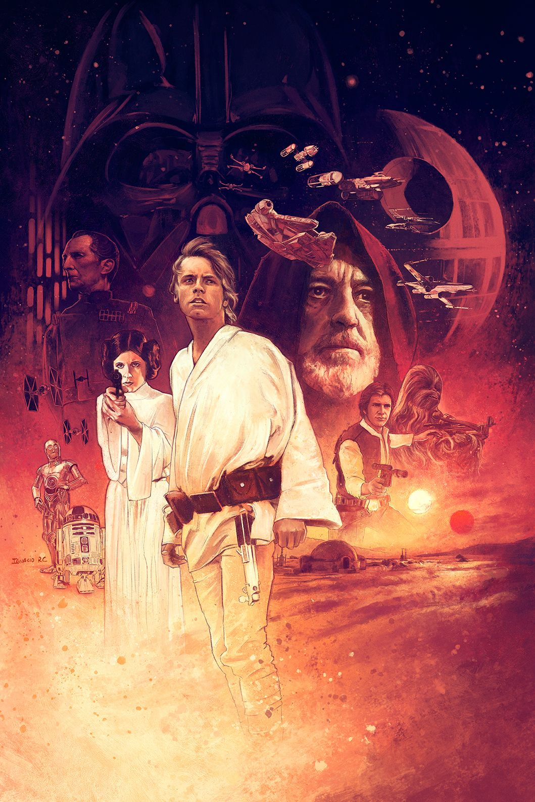 Star Wars Episode Iv A New Hope Star Wars Painting Star Wars