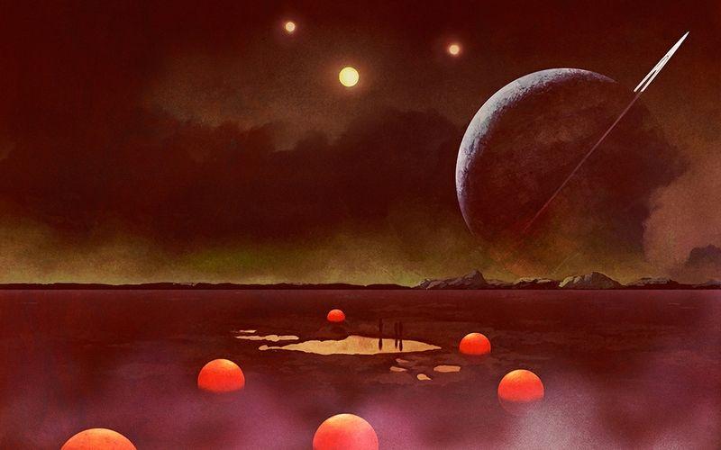 Vintage Sci Fi Art Wallpaper Classic Science Fiction