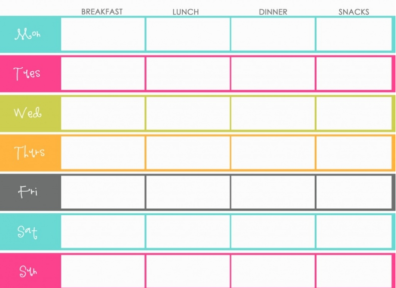 The Design Pages: Free Printable Meal Planners | Organization ...