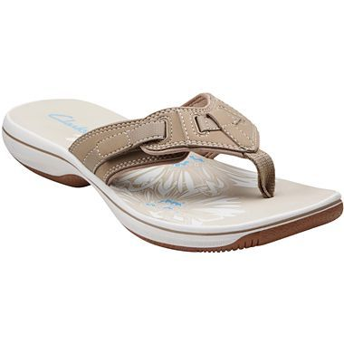 6ebca91c3d7ef Clarks® Breeze Flurry Sporty Flip Flops - jcpenney