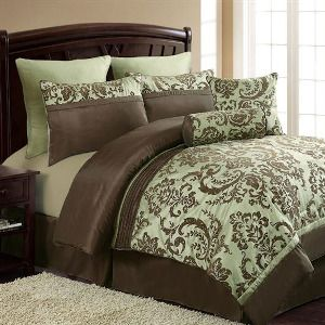 Brown And Green Comforter Set King Google Search Bed Comforter