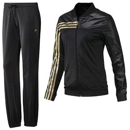 survetement adidas noir et rose brillant