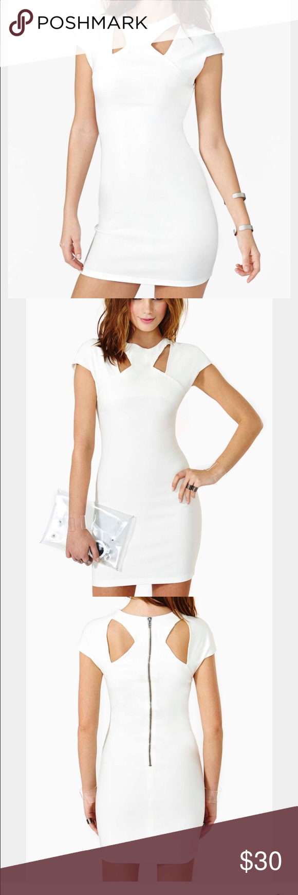 Nasty gal sharp aim white dress never worn Nasty gal sharp aim white cut out dress. Bodycon. Size small. Never worn/new. Sold out in stores. Nasty Gal Dresses Mini