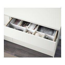 MALM Lipasto, 6 laatikkoa, valkoinen - 160x78 cm - IKEA